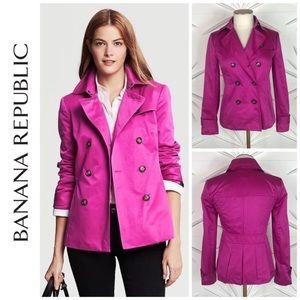 Banana Republic pink trench coat szL